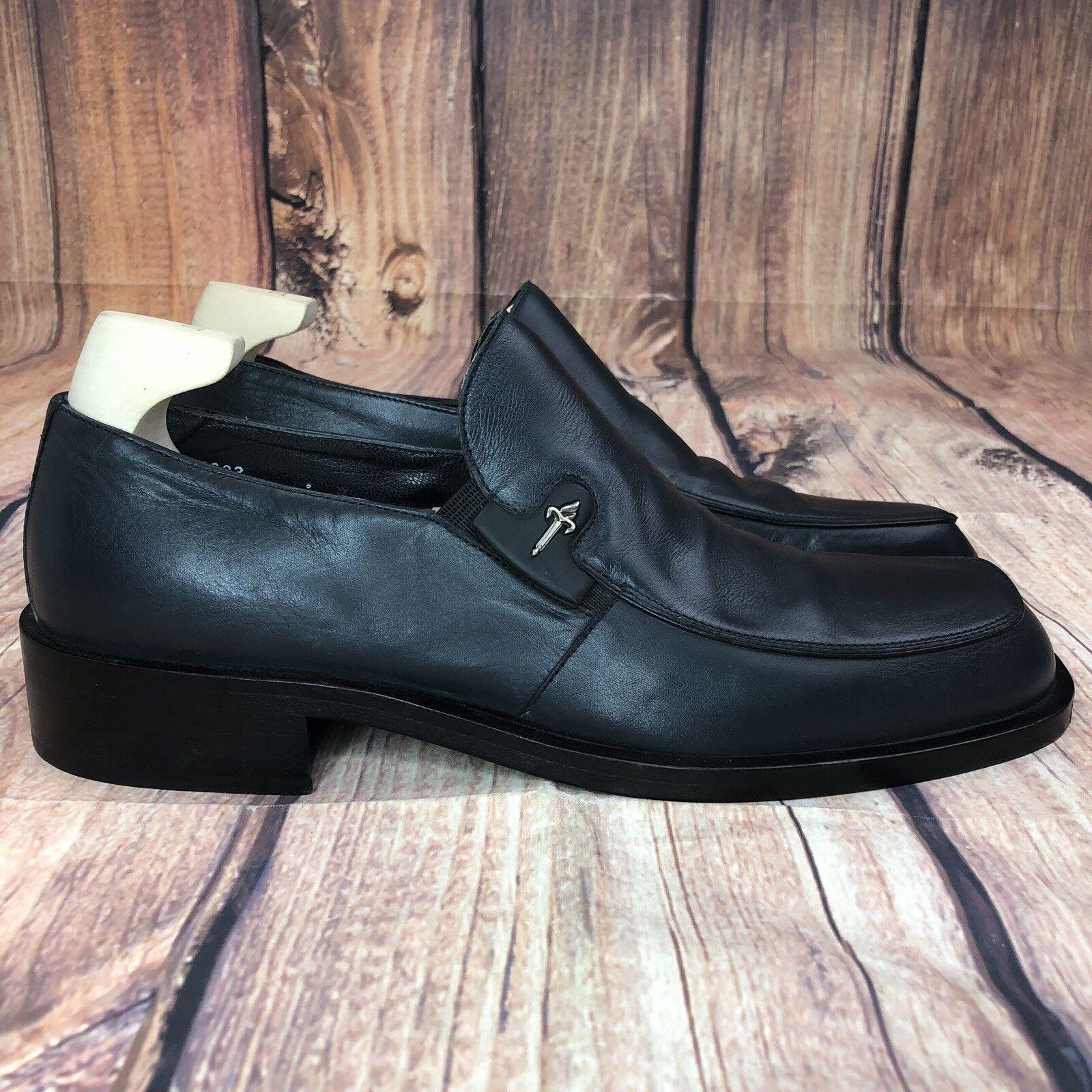 Cesare Paciotti Slip On Loafers Uomo Size Size Uomo 9 NEW - Blue ebf29e