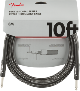 Genuine-Fender-Professional-Series-Guitar-Instrument-Cable-GRAY-TWEED-10-039-ft