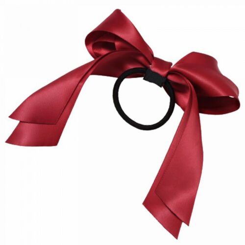 Ribbon Hair Ties For Kids Girls Ponytail Holder Elastic Hairband Rope New