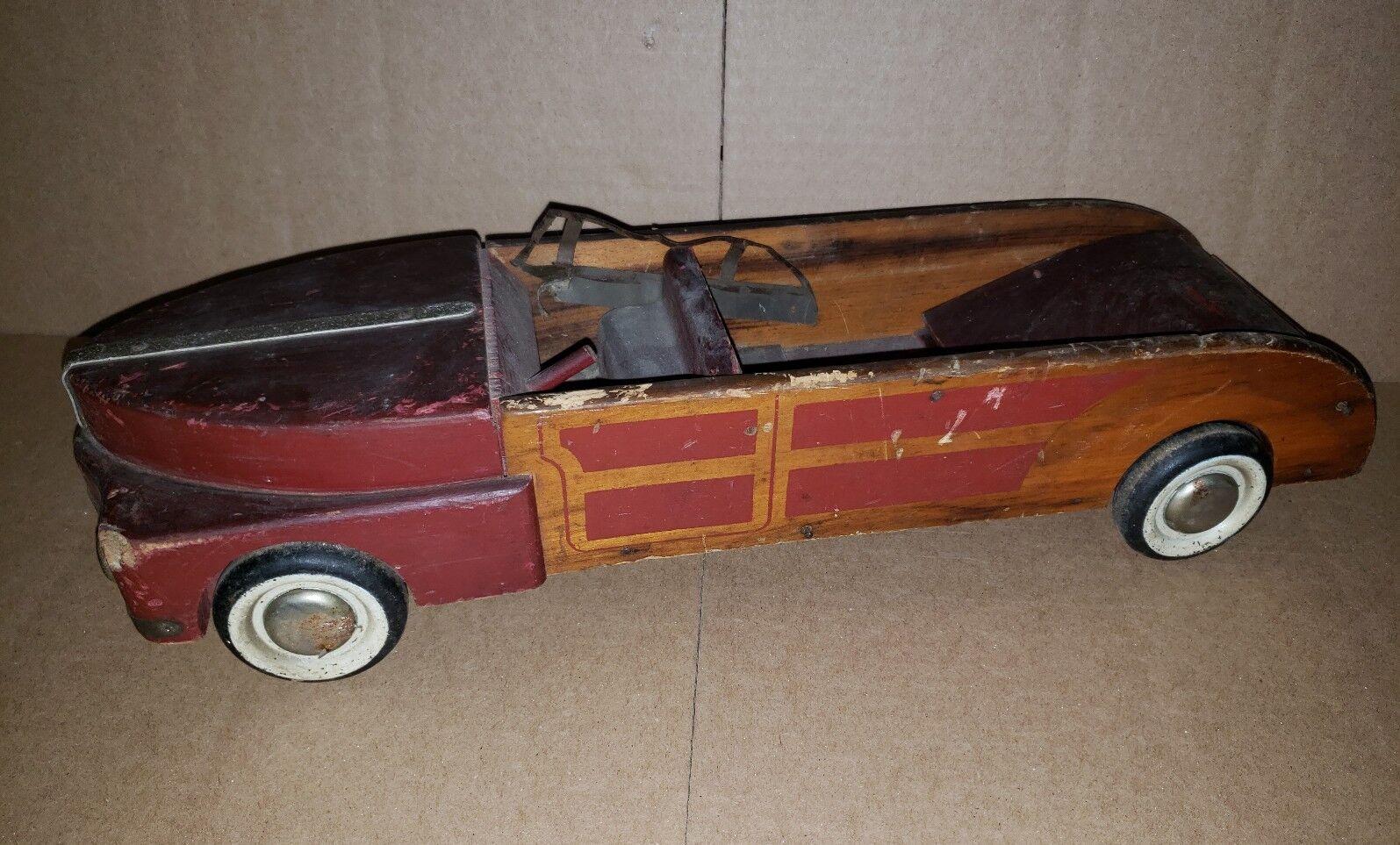 Zweiter weltkrieg - ära nestlö 40 kumpel l holz town & country cabrio auto hölzerne unvollständig