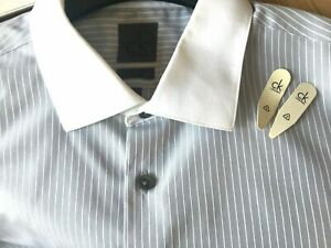 CK-Calvin-Klein-Grey-White-Striped-Formal-Shirt-Slim-Fit-Long-Sleeve-16-5