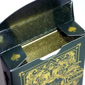 Spirit-II-Playing-Cards-Rare-Gold-Gilded-Edition-Green-Deck