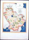 1950 - CARTINA BASILICATA - STAMPA IMAGO ITALIAE - ED. SPECIALE FARMITALIA