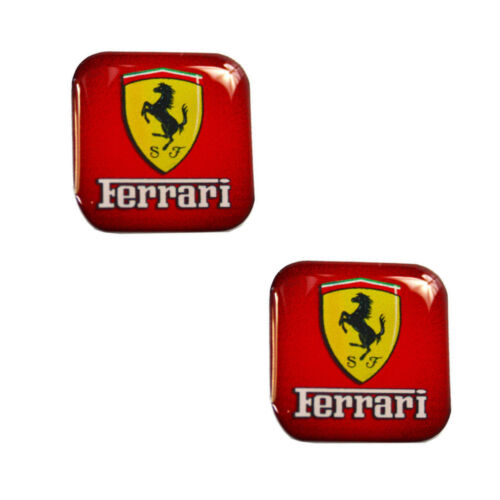 2 Domed Stickers 3D Decals Ferrari Auto Moto GP Racing Rally Car Tuning KS 52