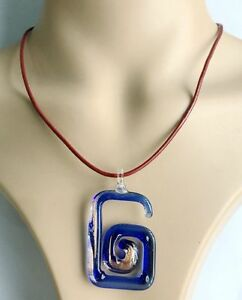 Fashion-Handmade-Italian-Lampwork-Murano-Glass-Pendant-samll-number-Necklace