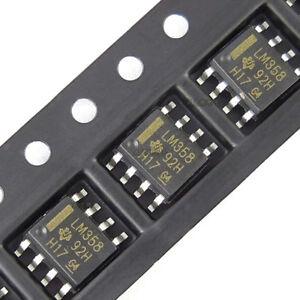 10Pcs lm358dr SMD AMPLIFICADORES Amplificador Operacional Dual sop8 lm358H9