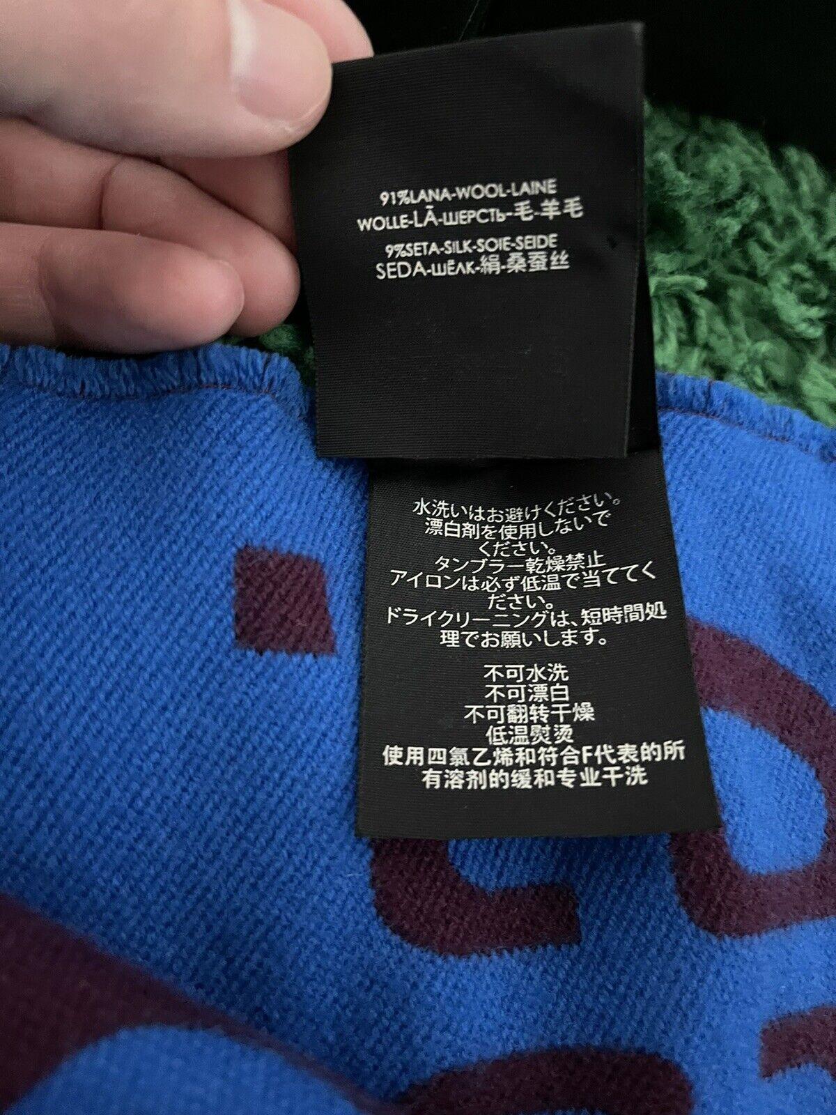 Gucci GG jacquard wool silk scarf - image 4