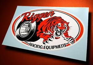 Vintage Style RIGGEN RACING EQUIPMENT ☆ Slot Car Sticker ☆ Pit Box Decal