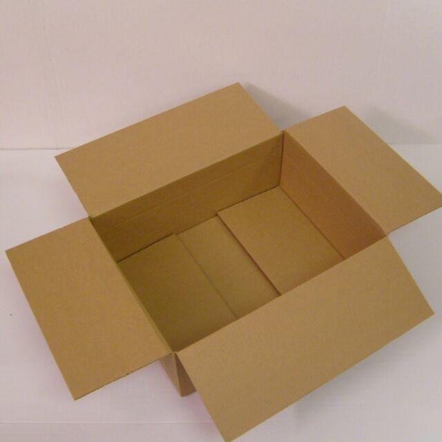 Faltschachtel 400 x 300 x 100 bis 150 mm Faltkarton Versandkarton braun 1 wellig