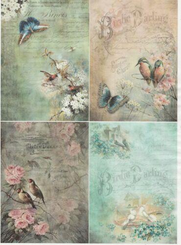 Rice Paper for Decoupage Decopatch Scrapbook Craft Sheet Vintage Birdie Darling
