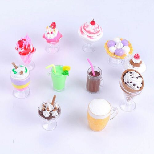 Miniatures Tableware Goblets Dollhouse DIY Toy Decor Dish Cups