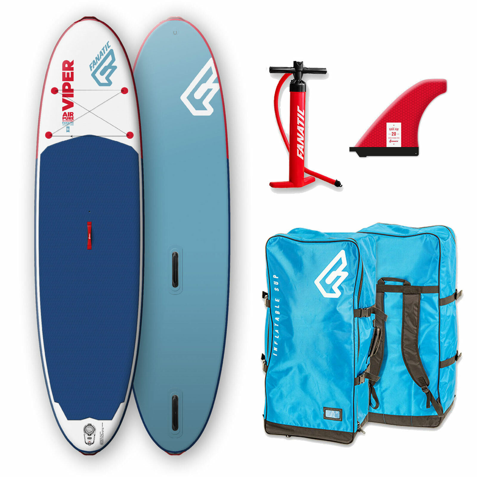 Fanatic Hinchable Viper Air Windsurf Pure Sup I-Sup Surf Tabla Surf de Remo