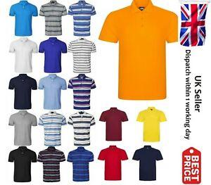 Mens-Polo-Shirt-Top-Short-Sleeve-Designer-Plain-T-shirt-Tee-Horse-Golf-S-To-7XL