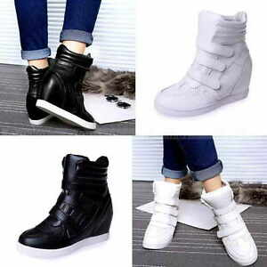 Womens-High-Top-Hidden-Wedge-Sneakers-Casual-Shoes-Woman-Ankle-Boots