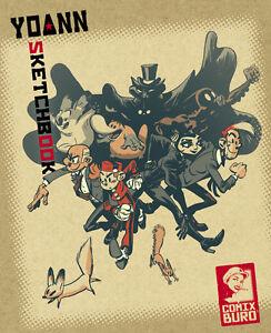 YOANN-SKETCHBOOK-1-signed-limited-900-Ex-SPIROU-GASTON-WOLVERINE-BATMAN-HULK