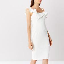 Coast Ivory Clancy Ruffle Shift Dress Size 12 (BNWT)