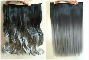 17 inches one piece synthetic balayage ombre clip in hair image is loading 17 inches one piece synthetic balayage ombre clip pmusecretfo Images