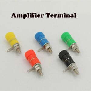 Jack-Mount-Speaker-Banana-Plug-Connector-Binding-Post-Amplifier-Terminal