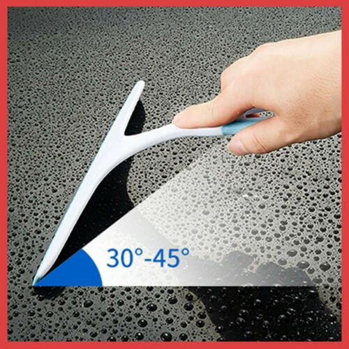 Silicone Glass Squeegee Car Window Wiper Blade Soap Cleaner Home Shower Bathroom