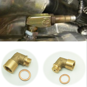 02 Bung Extension M18X1.5 O2 Oxygen Sensor Angled Extender Spacer 90 Degree