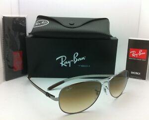d5a572c631 Ray-Ban Sunglasses RB 8301 004 51 Tech 59-14 Gunmetal w  Brown ...