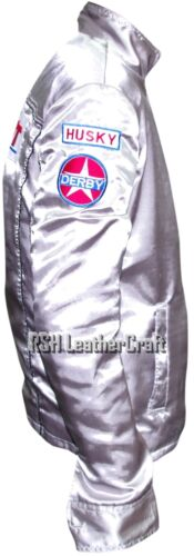 Death Proof Kurt Russell Stuntman Mike Costume Satin Jacket with Patches
