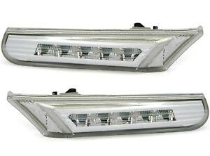 LED-Seitenblinker-Set-fuer-PORSCHE-911-Carrera-996-Boxster-986-in-Chrom-Blinker