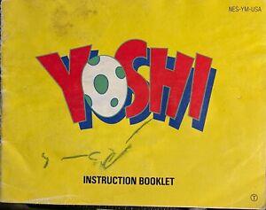 Notice Yoshi pour Nes