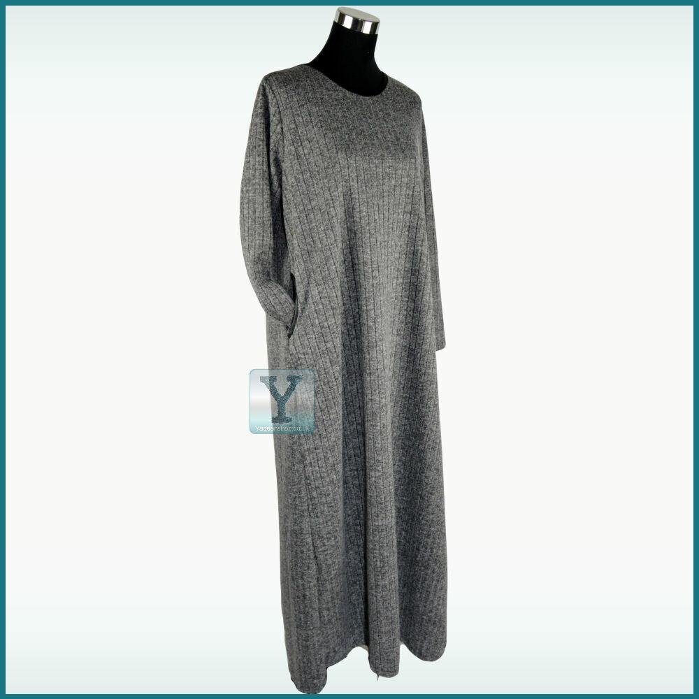 Winter Abaya L / XL UK size 12/14/16 Jilbab Hijab Kaftan Maxi Dress