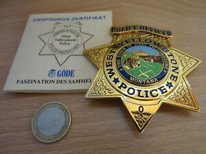 WEST YELLOWSTONE POLICE OFFICER insigne police badge Polizeiabzeichen écusson