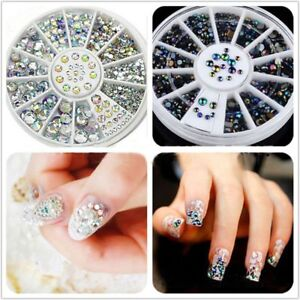 round different shapes and sizes uv gel acrylic diy nail