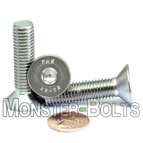 Qty 10 DIN 7991 Stainless Steel FLAT HEAD Socket Cap Screws M10-1.5 x 40mm