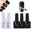 Soak-off-UV-Gel-Nail-Polish-Clear-Base-Coat-Matte-No-Wipe-Top-Coat-Tool thumbnail 1