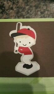 Cricut Baseball Player ANGEL Red  Die Cut Paper Piecing Scrapbooking