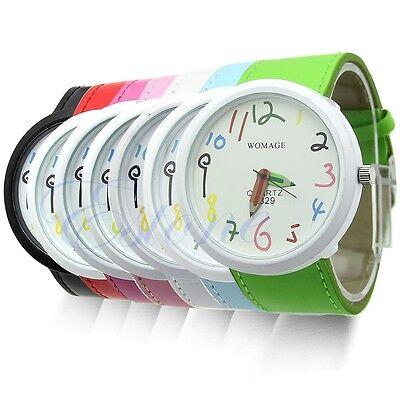 Fashion New Cute Women Ladies Girls Quartz Bracelet Leather Wrist Watch Gift