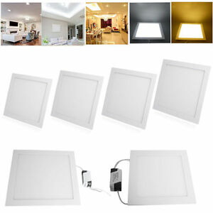 4-10-20Pack-12W-LED-Recessed-Ceiling-Flat-Panel-Downlight-Lamp-Light-Fixtures-US