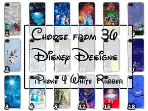 Disney-Castle-and-Characters-Apple-iPhone-4-iPhone-4s-White-Rubber-Phone-Case