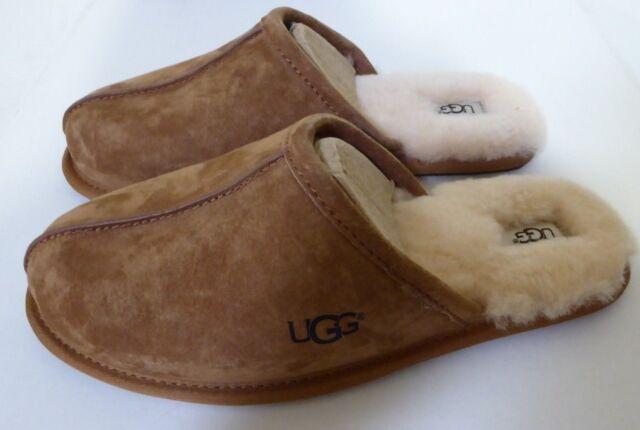 2ae18693e6e0 UGG Australia Scuff Mens Size 9 Brown Chestnut Suede Scuffs Shoes UK ...