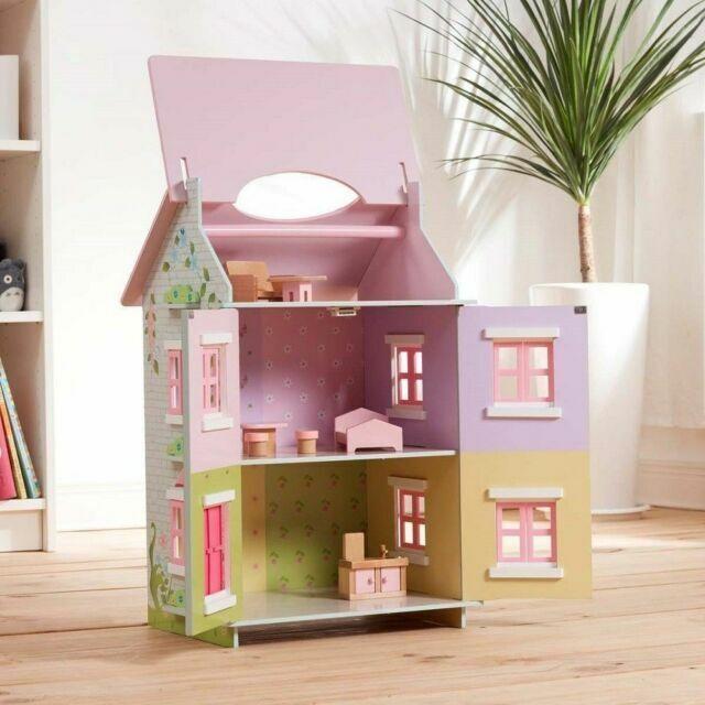"NEW Teamson Kids 3-level Sweet Pea Cottage with 7 pcs Accessories 16x13x24/"" NIB"