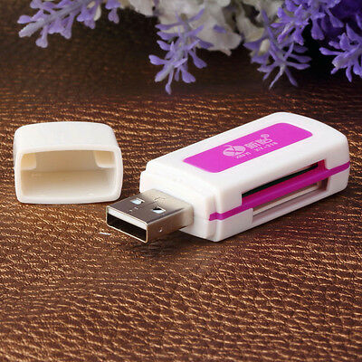 Protable USB 2.0 4 in 1 Memory Multi Card Reader for TF T-Flash M2 Card GP