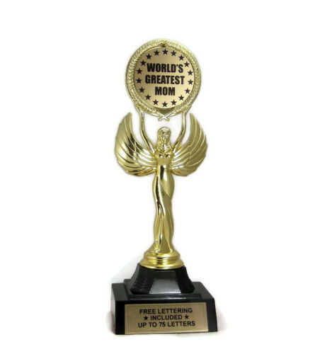 Free Lettering Honor Love Admire World/'s Greatest Mom Trophy Respect