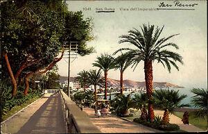 San-Remo-Sanremo-Italien-Italia-Ligurien-AK-1912-Viale-dell-Imperatrice-Strasse