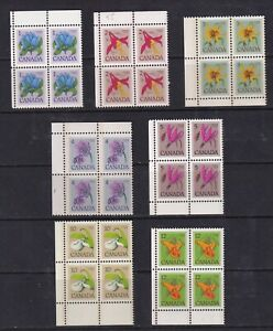 Canada-Mint-Stamps-in-Blocks-of-4-Sc-705-712-MNH