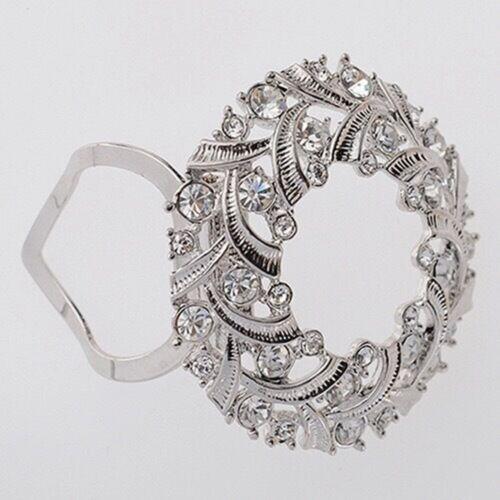 Crystal Pearl Silk Scarf Ring Clip Buckle Holder Brooch Scarf Nice Item