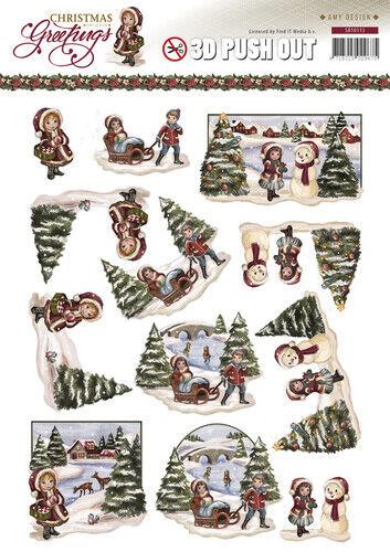 SB10113 3D-Stanzbogen Christmas Greetings  Amy Design Weihnachtslandschaft