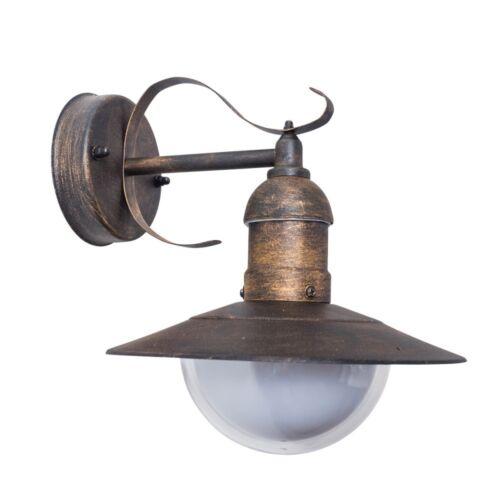 Klassische Wandleuchte Wandlampe Aussen Leuchte Wand Lampe Garten rostfarben