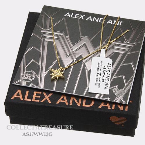 Authentic Alex and Ani Wonder Woman petit logo Star 14kt Plaqué or Collier