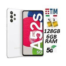 SAMSUNG GALAXY A52s 5G 2021 DUAL SIM SM- A528B 128GB/6GB WHITE ITALIA BRAND TIM