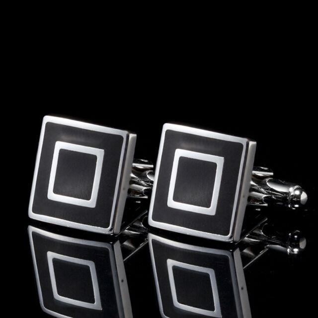 Mens Stainless Steel Classic Fashion Business Shirt Cufflinks Cuff Links B02