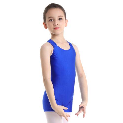 Kids Girls Ballet Gymnastics Dance Leotards Dancewear Unitards Jumpsuit Costume